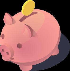 Logo besparen spaarvarken Mitchell van der Meij