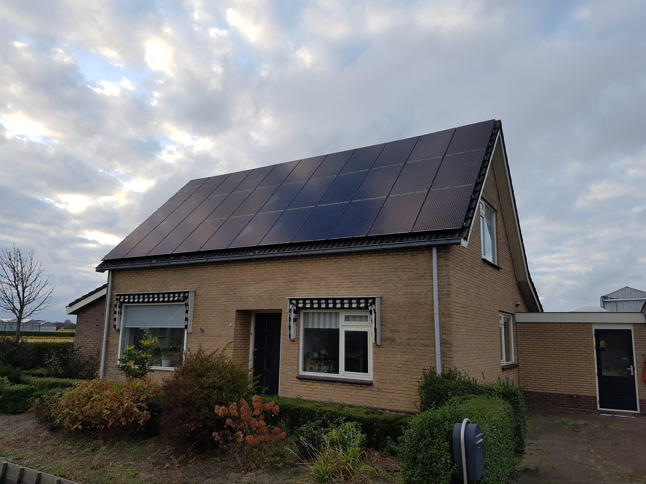 JA Solar zonnepanelen op het dak